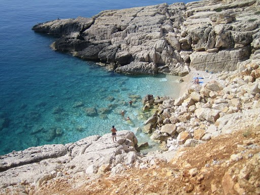 A beautiful sandy cove in Kas